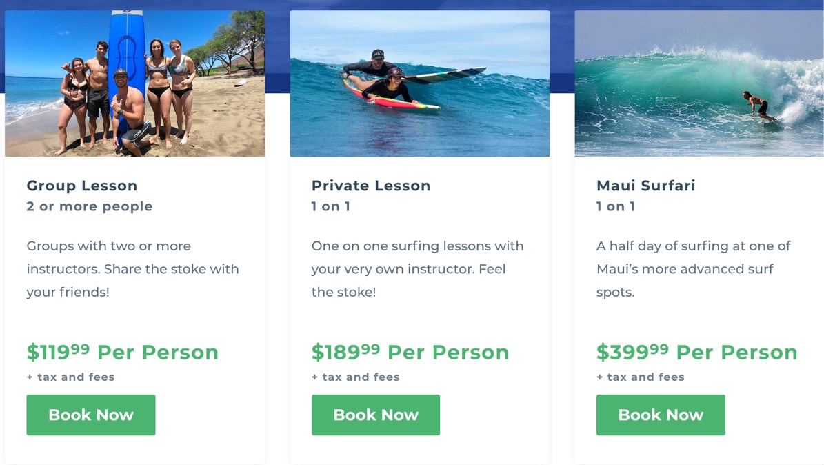 Maui Surf Academy Features